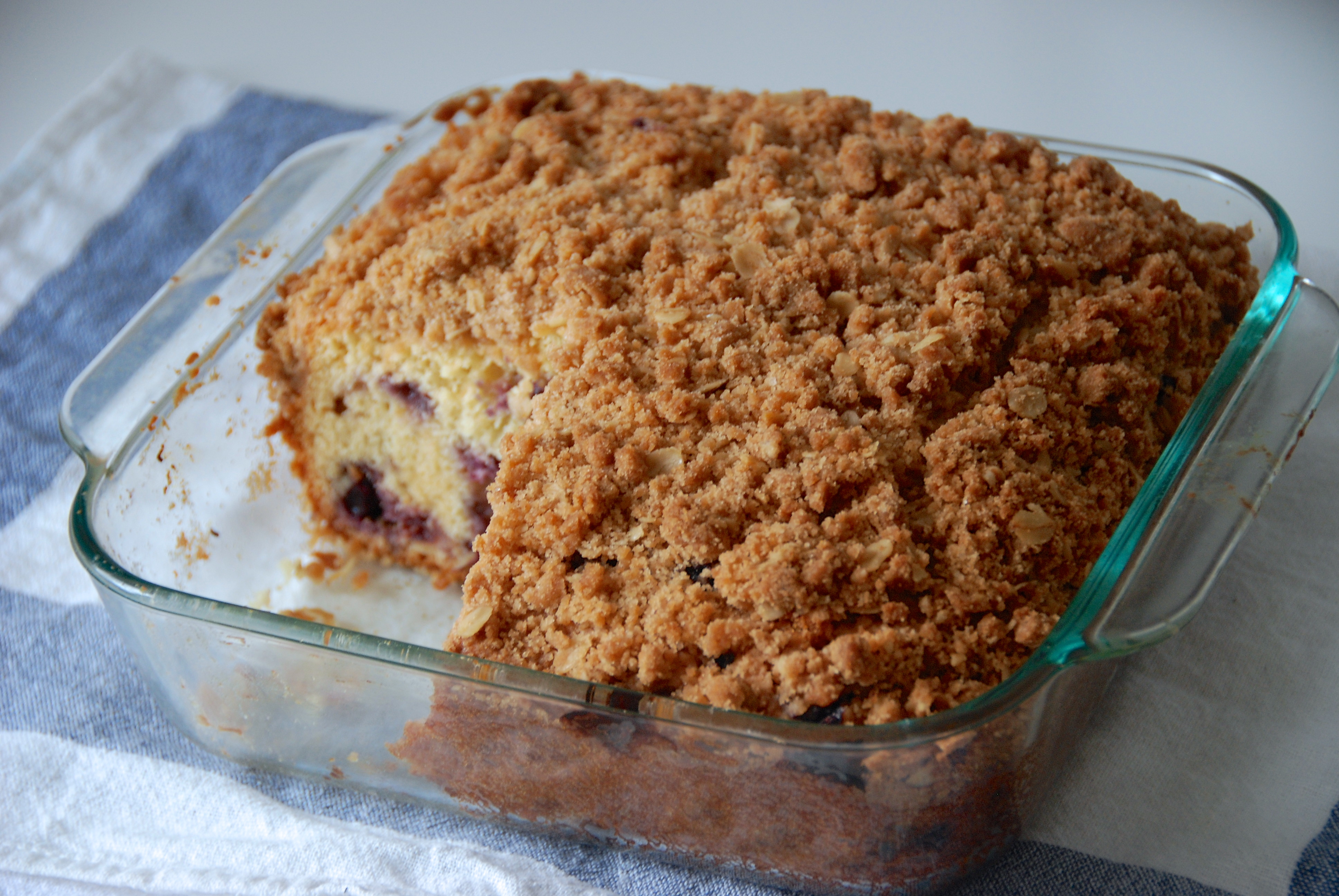 Blueberry buckle coffee cake, from Annie's Eats. - Two Red Bowls