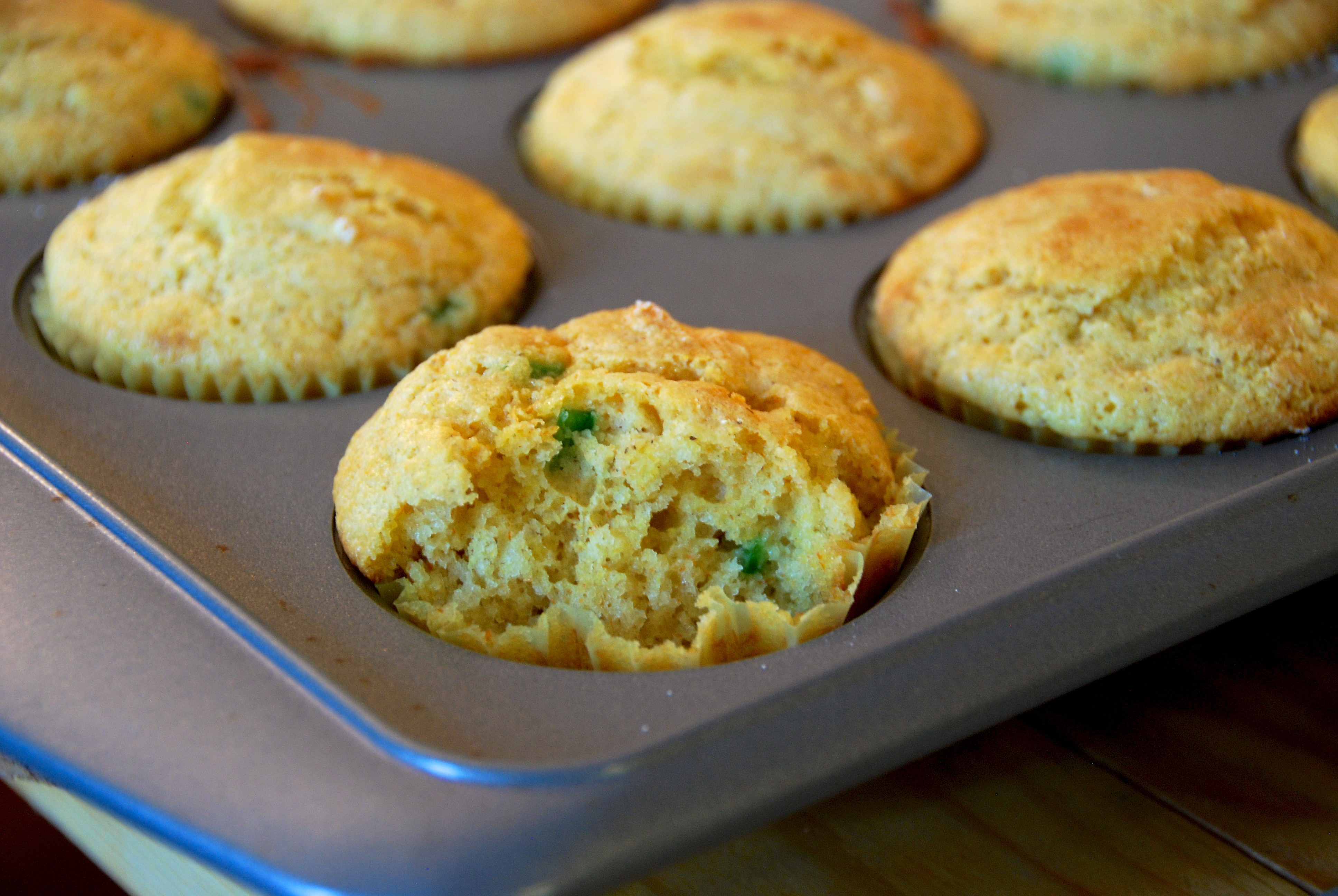 jalapeno corn muffin bite