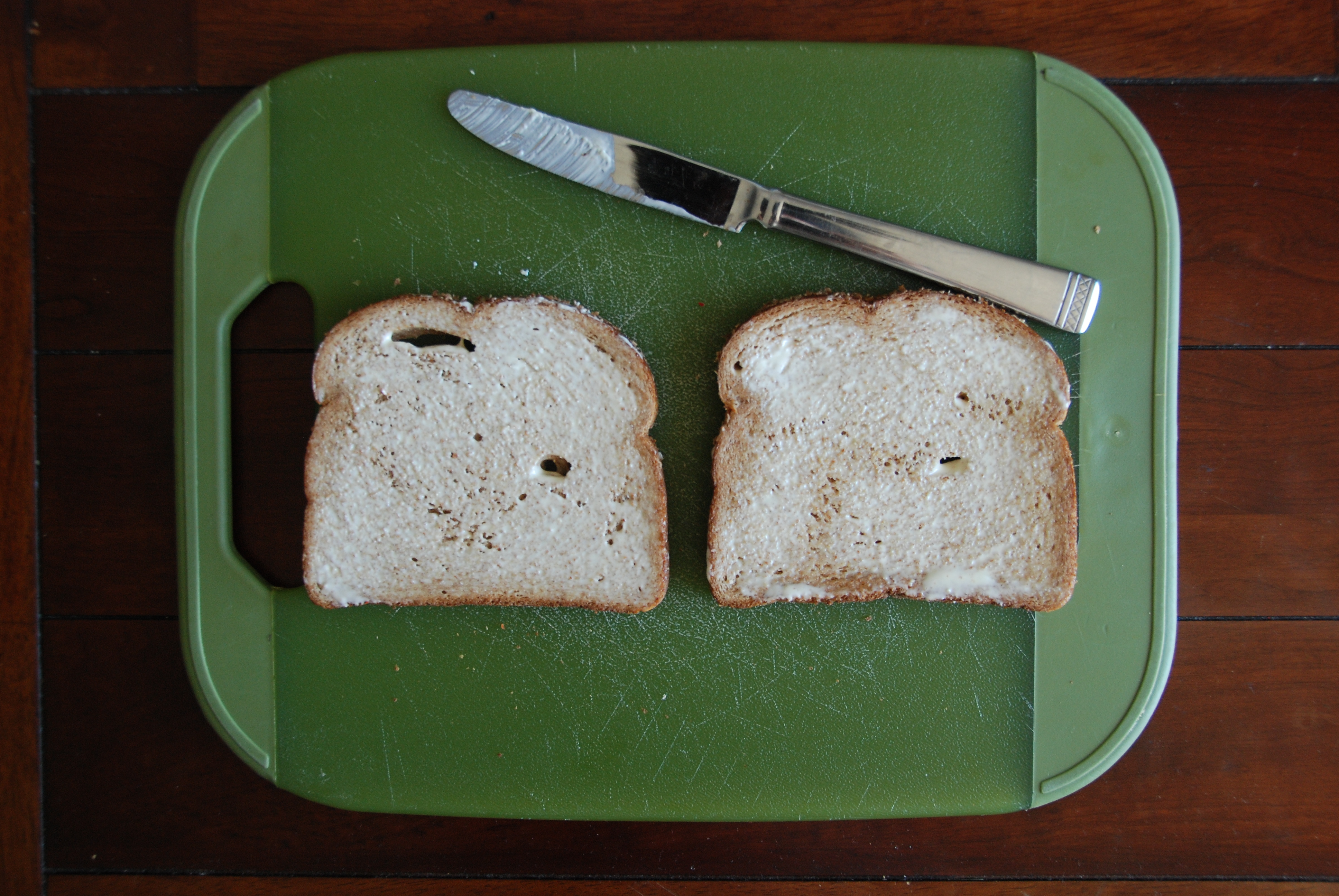 buttered bread