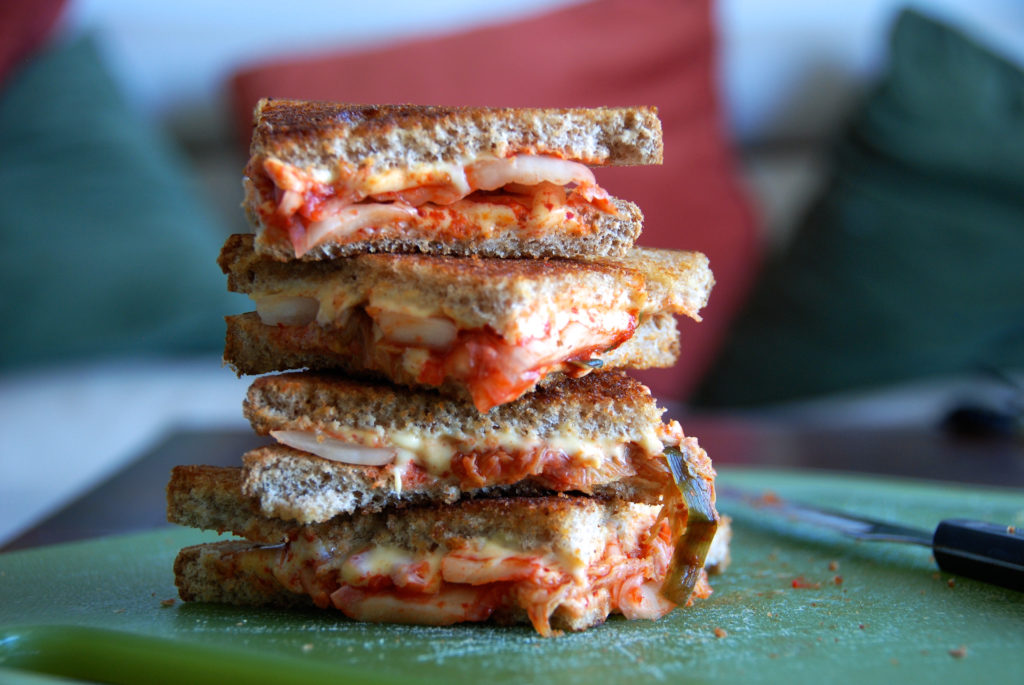 kimchi grilled cheese stack2