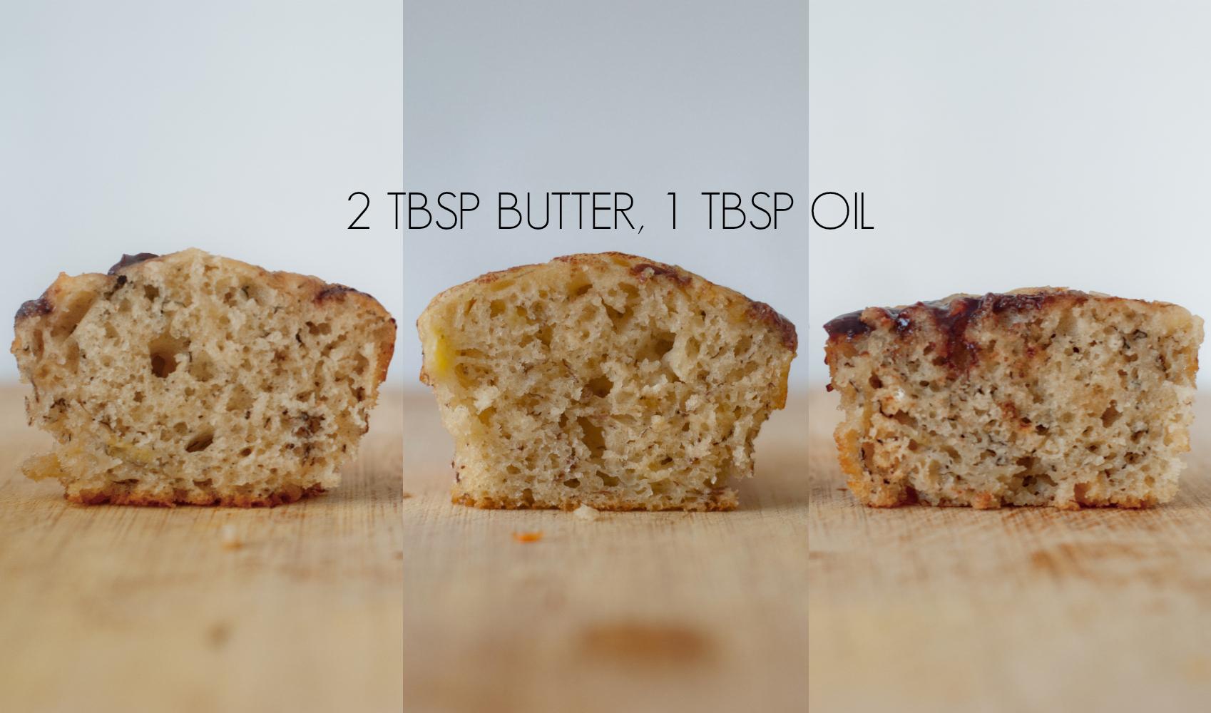 banana cupcake butter oil caption