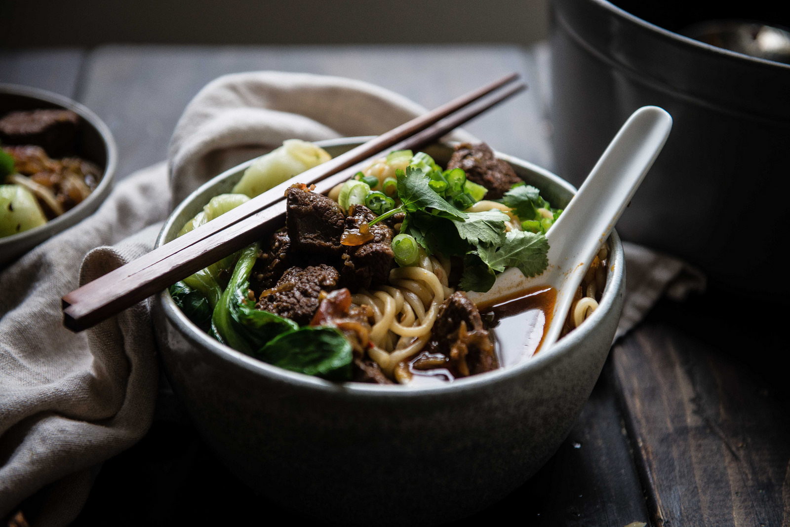 Taiwanese Spicy Beef Noodle Soup Some News Two Red Bowls