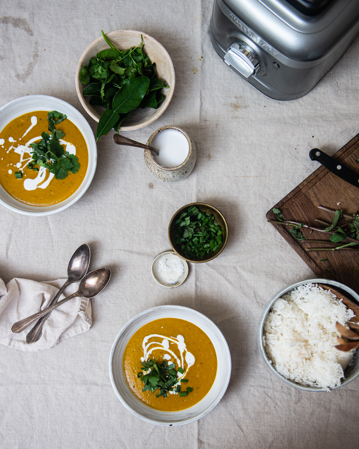 red curry kabocha soup