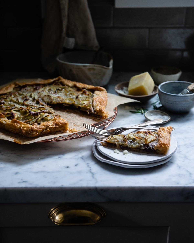 rosemary, caramelized onion, & potato galette